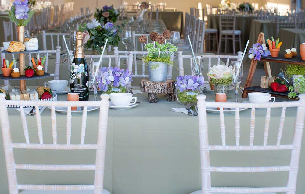 Mothers Day table setting at Arley House