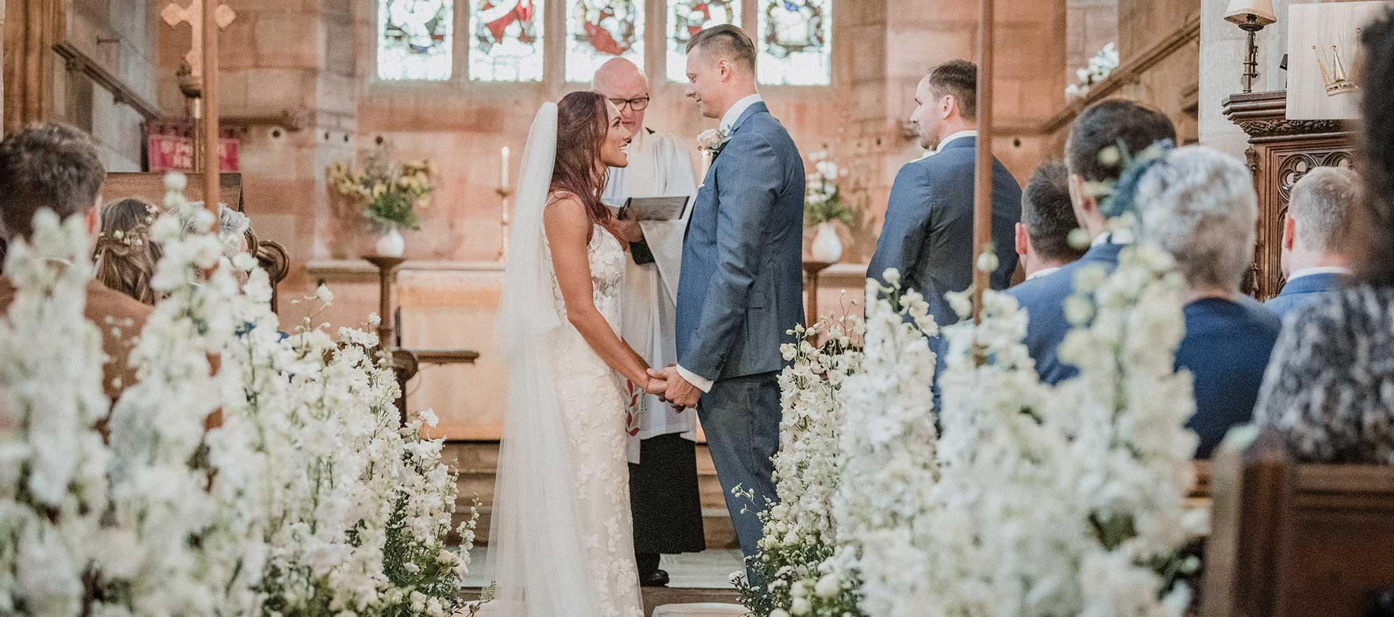 Wedding at St Peter's church at Arley