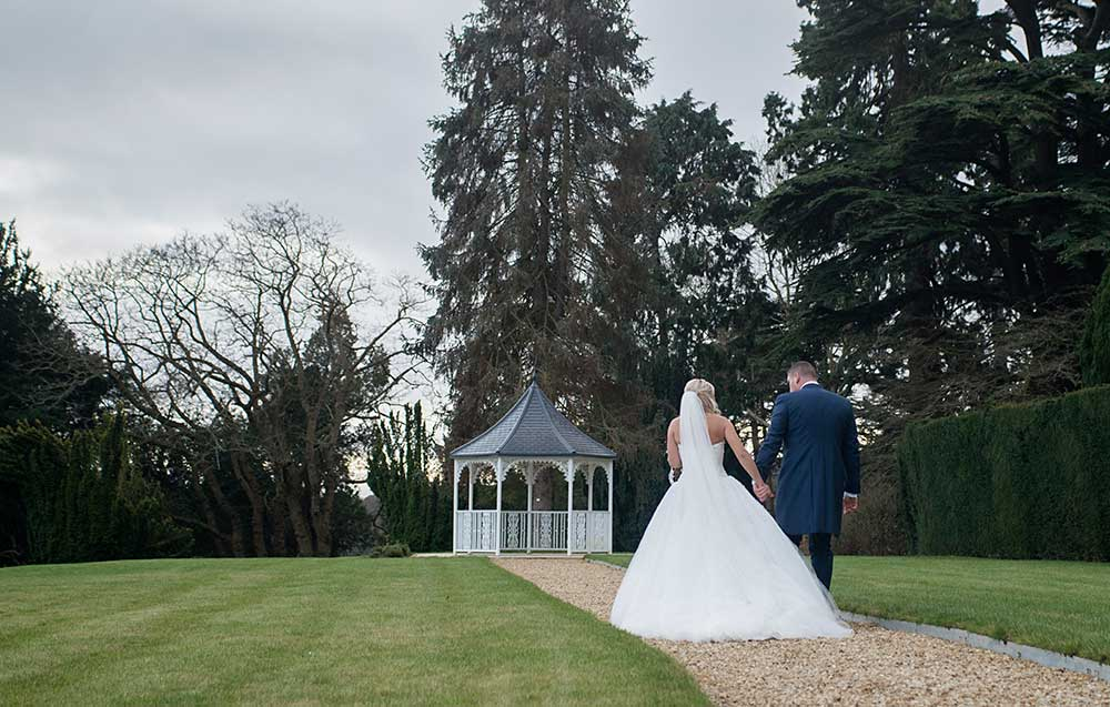 Wedding couple at Arley House