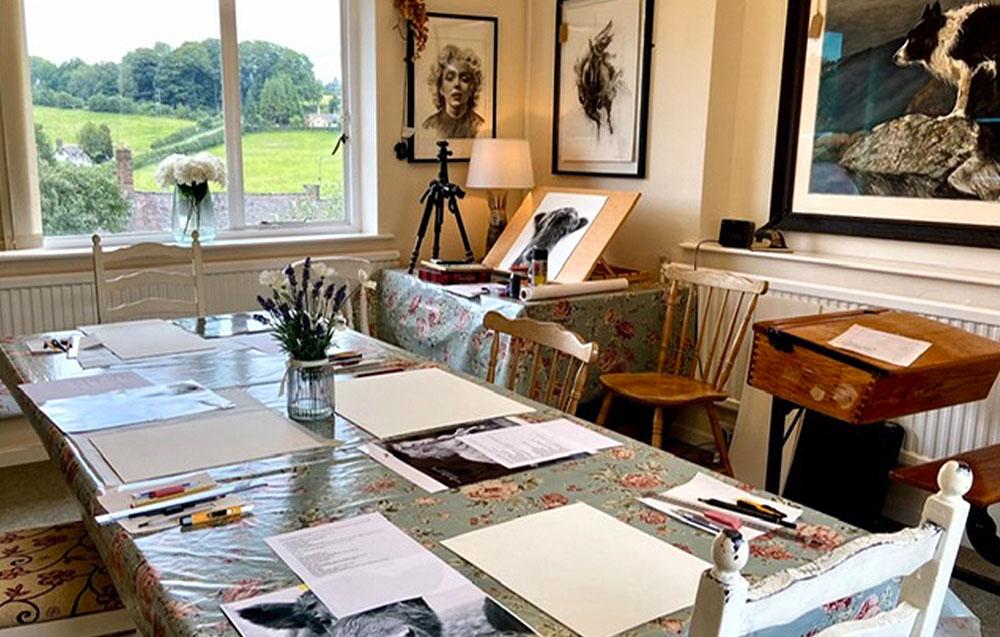Art studio at Arley House